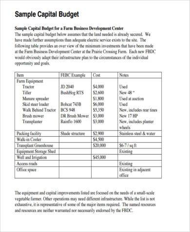 capital budget form in pdf