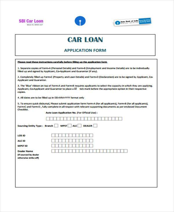 7 Loan Contract Form Samples Free Sample Example Format Download – Loan Contract Example