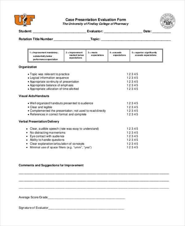 case presentation evaluation form1