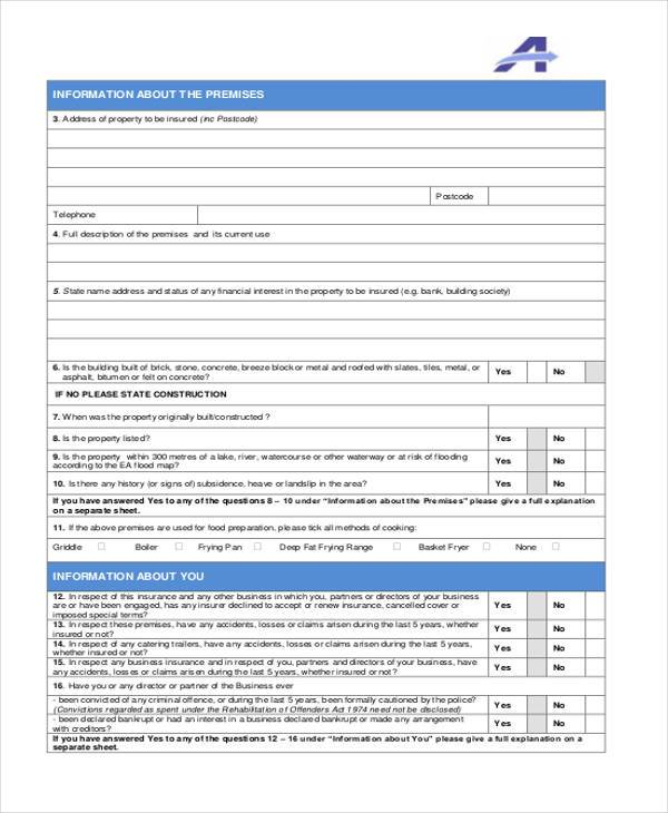 catering and decorating proposal form