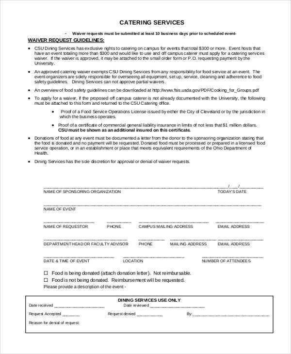 catering services proposal form 1