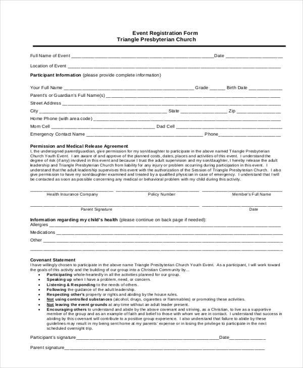 Registration Form Templates