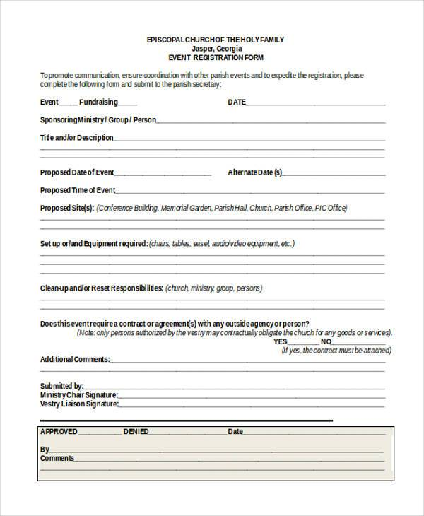 church event registration form1