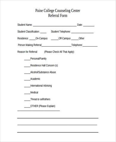 college counseling referral form