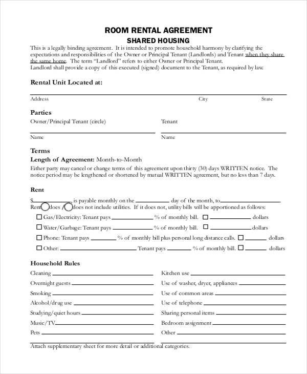 7 Commercial Rental Agreement Form Samples Free Sample Example – Commercial Rent Agreement Format