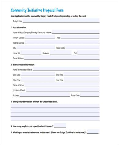 community initiative proposal form