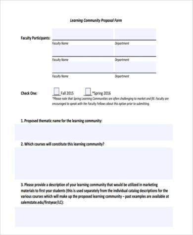 community proposal form in pdf