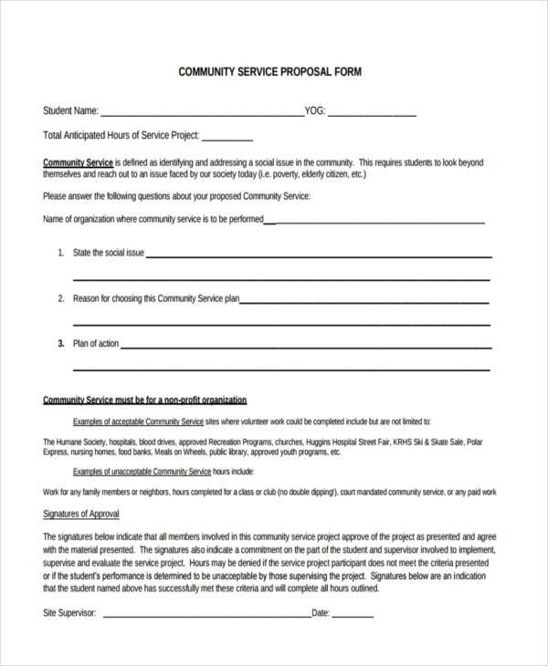 community service proposal form3