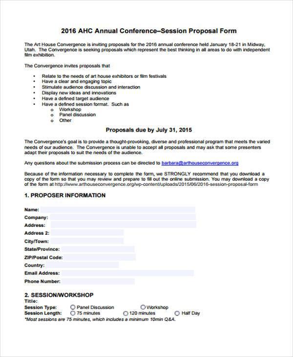 conference proposal wrting workshop form
