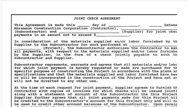 Free 9 Construction Agreement Form Samples In Sample