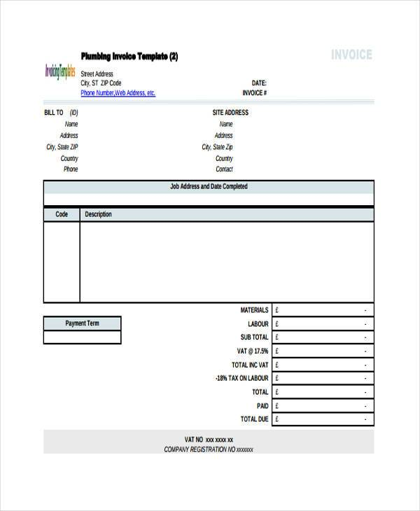 construction excel invoice