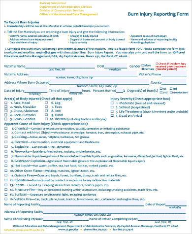 construction injury report form
