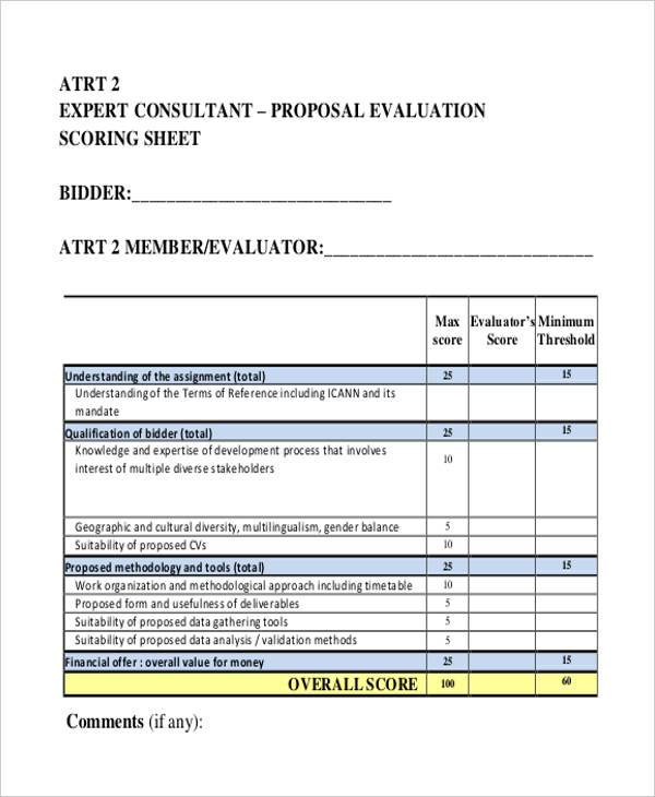 consultant proposal evaluation form1