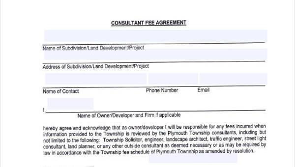 Consulting Agreement Form Samples 7 Free Sample Example Format