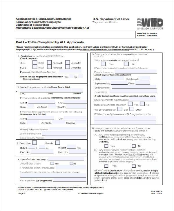 contract labor information form