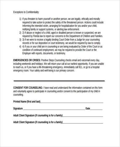Top Result 60 Inspirational Counselling Consent form Template ...
