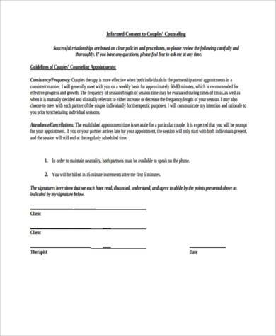 counselling consent form in pdf