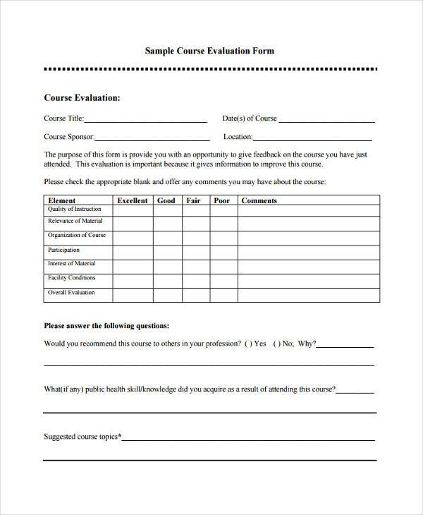 course evaluation feedback form1