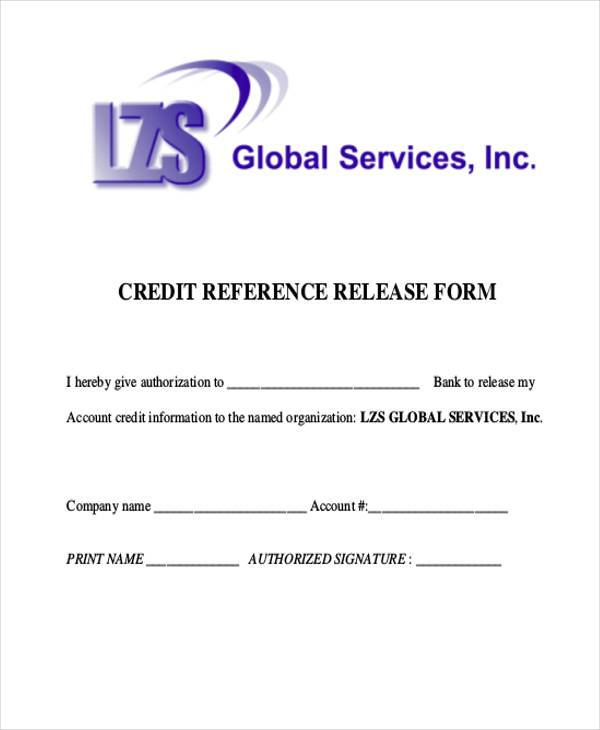 Reference Release Form Samples  Free Sample Example Format