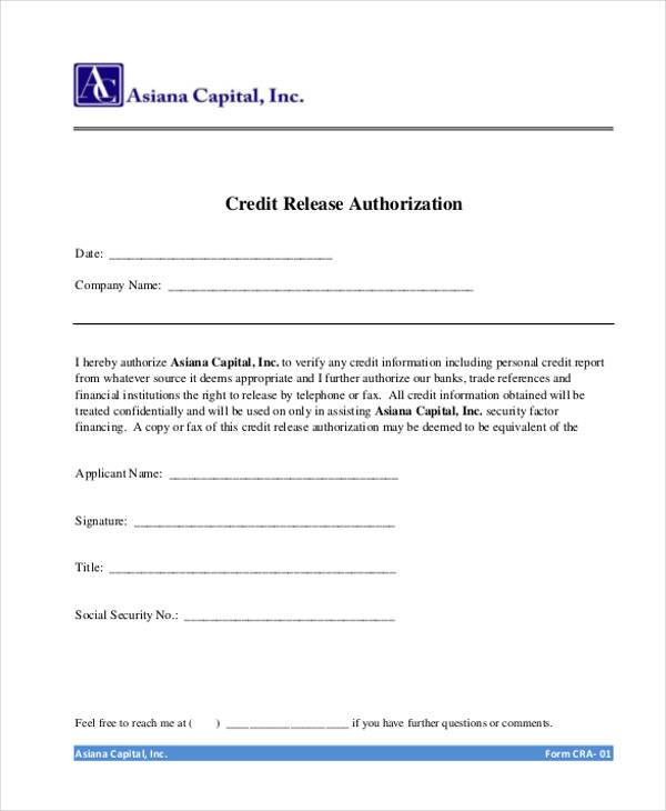 Superb Credit Release Authorization Form Throughout Personal Information Release Form