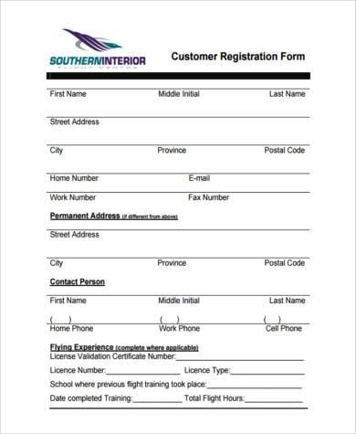 Sample Customer Registration Forms - 7+ Free Documents in Word, PDF