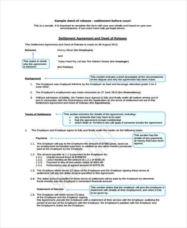8+ Deed Release Form Samples - Free Sample, Example Format Download