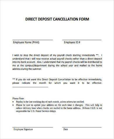 Deposit Form Samples  Free Sample Example Format Download