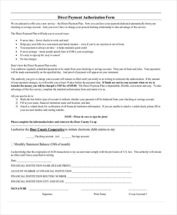 electronic credit card authorization form
