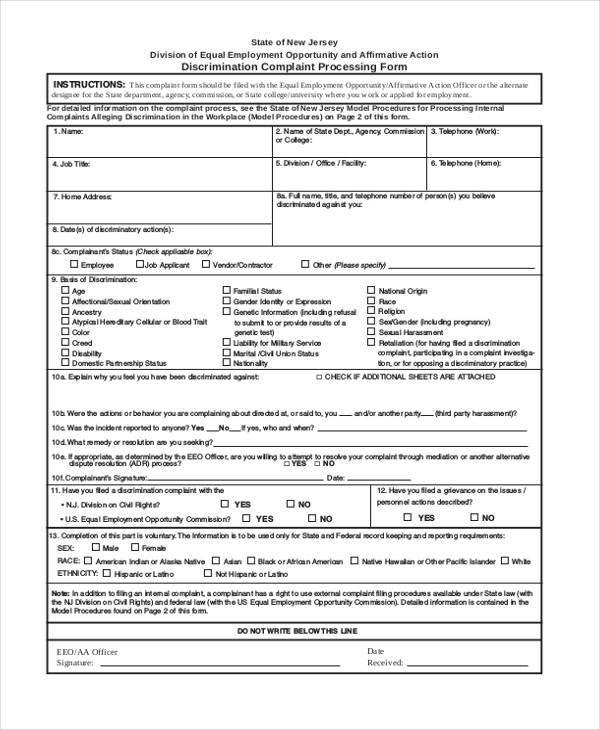 discrimination complaint processing form1