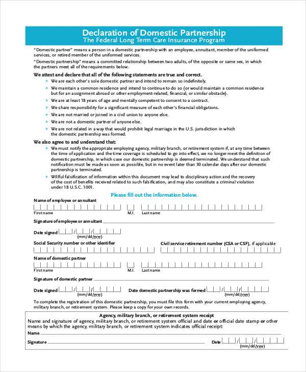 Partnership Agreement Form Samples  Free Sample Example Format