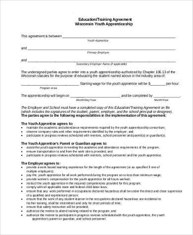 Sample Training Agreement Forms - 10+ Free Documents in Word, PDF