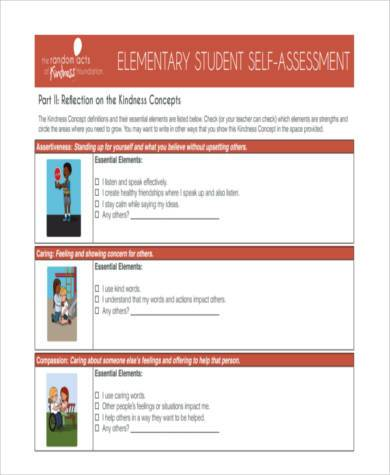 Sample Student Self-Assessment Forms - 8+ Free Documents ...