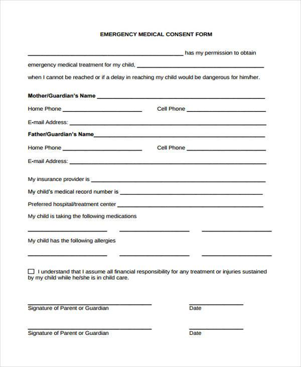 Emergency-Medical-Consent-Form1 Verbal Order Form Template on free sales, printable shirt, free fundraiser, printable fundraising, sample purchase, repair work,
