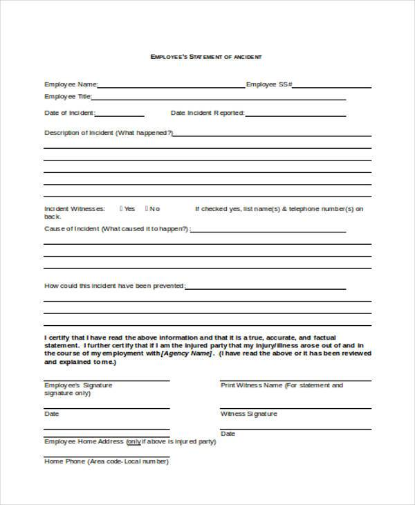 employee accident statement form1