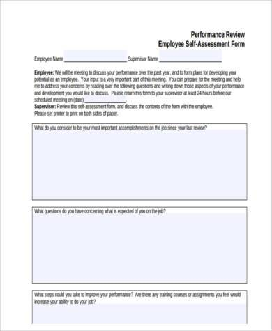 employee assessment form in pdf