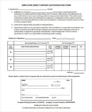 payroll deduction authorization form sample payroll