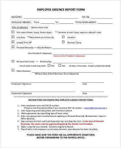 employee expense report form