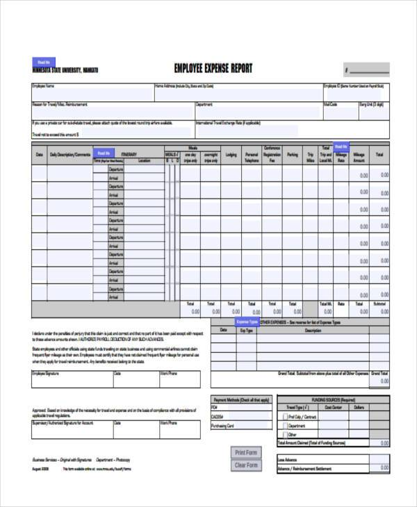 employee expenses form in pdf