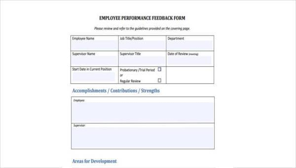 8 Employee Feedback Form Samples Free Sample Example Format Download