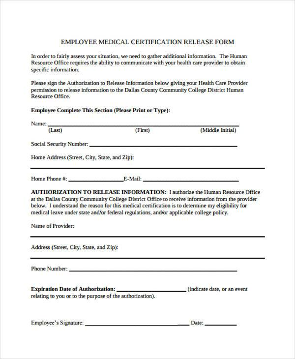 employee release forms - Isken kaptanband co