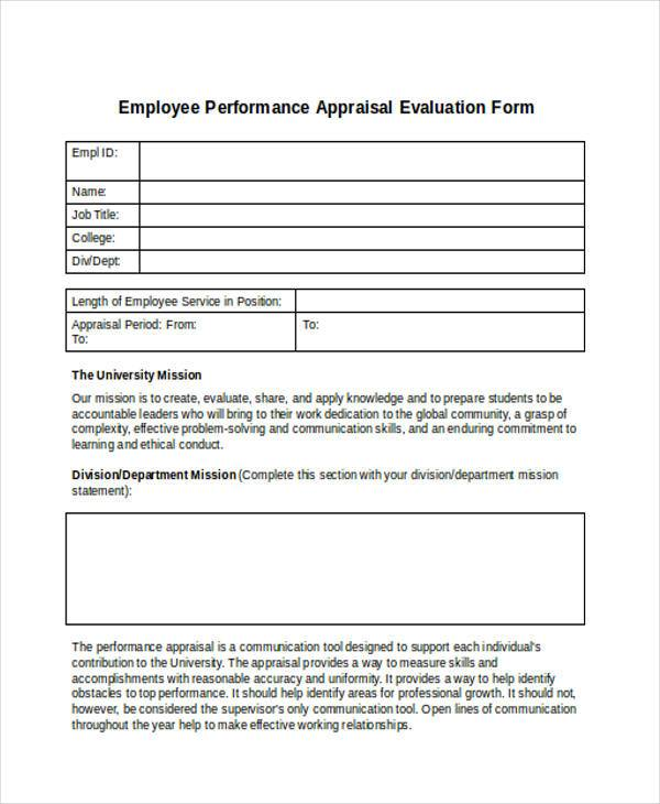 Evaluation Forms In Word
