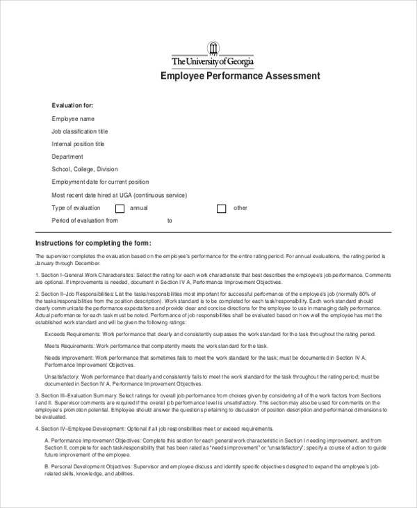employee performance assessment form1