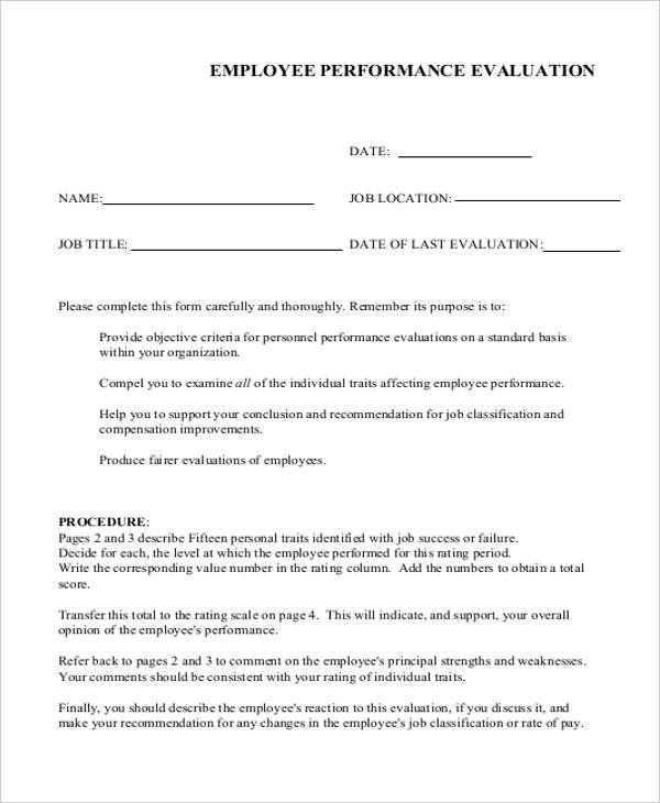 employee performance evaluation form1