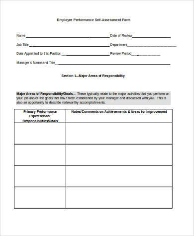 employee performance self assessment form1