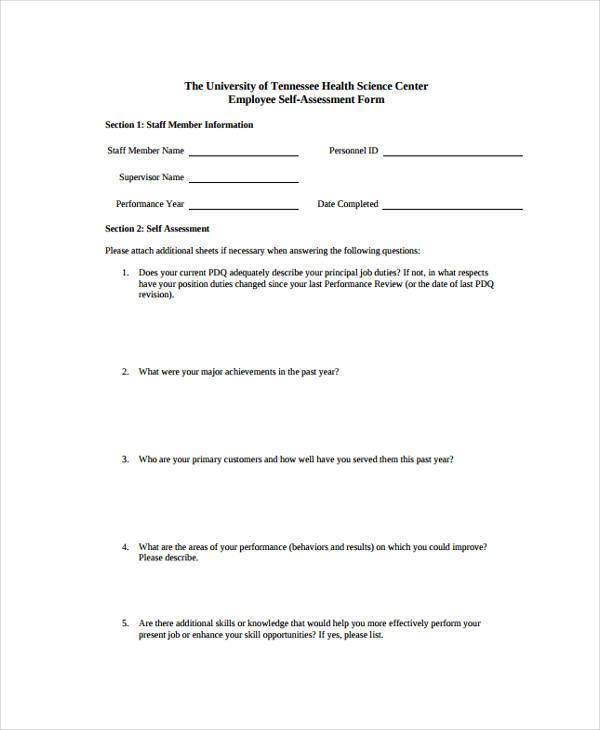 employee performance self assessment form2
