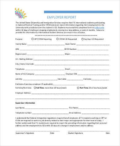 employee report form in pdf