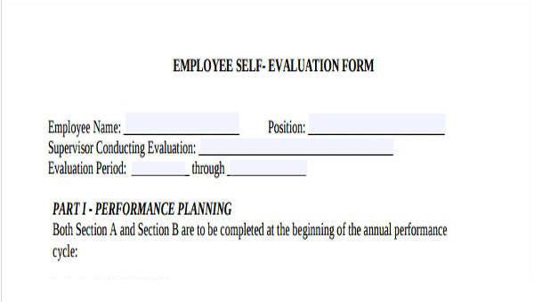 sample self assessment for employee