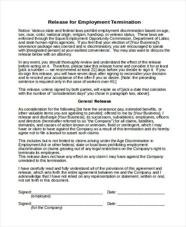 8+ Employee Termination Form Samples - Free Sample, Example Format ...