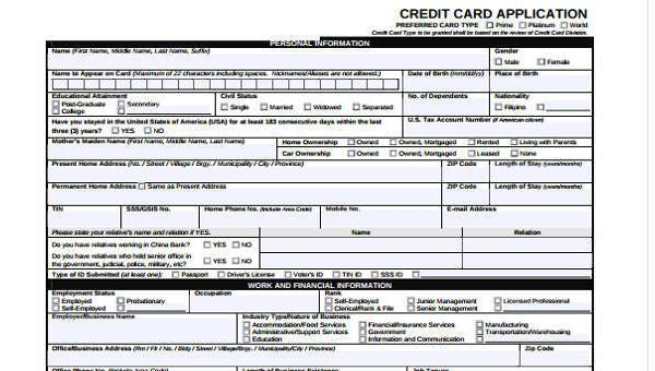 8 employment application sample forms free example sample format