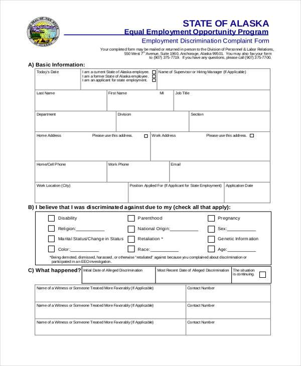 employment discrimination complaint form1